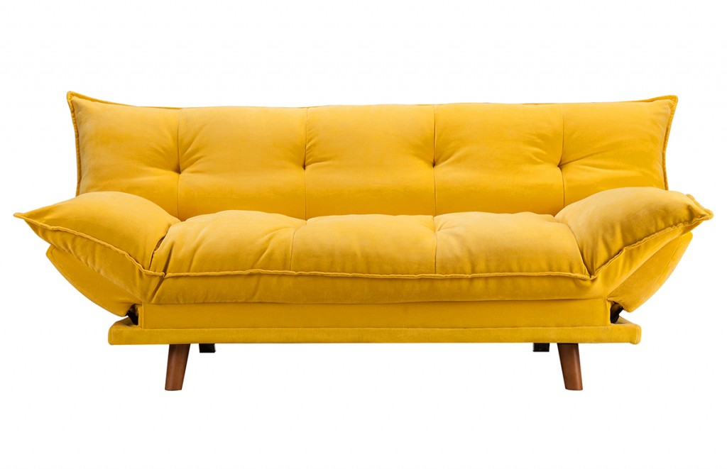 Canapé convertible PILLOW jaune